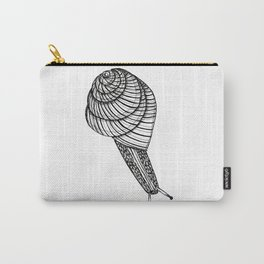 Black and White Snail Carry-All Pouch