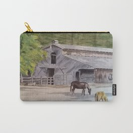 Old Horse Barn Carry-All Pouch