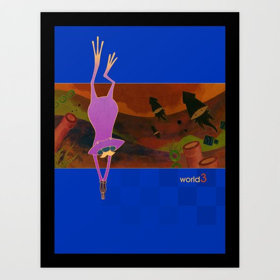 world3 Art Print