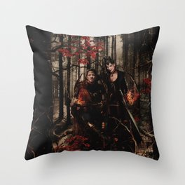Outlaw Queen - Prince of Thieves and The Queen Throw Pillow