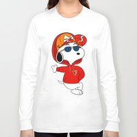 snoopy Long Sleeve T-shirts featuring The Modern Day Cool Snoopy by XB Designs