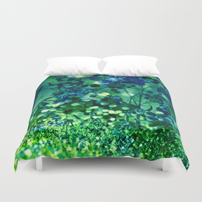 Bokeh floral Duvet Cover