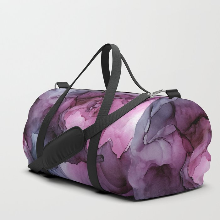 Abstract Ink Painting Ethereal Flowing Watercolor Nebula Duffle Bag