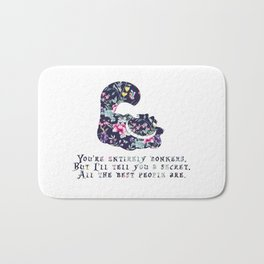 Alice floral designs - Cheshire cat entirely bonkers Bath Mat