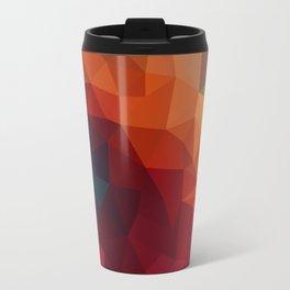 Burnt Jewel Low Poly Travel Mug