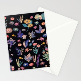 color flowers in the dark Stationery Cards