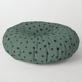Cheetah Spots animal print minimal wild cat speckles and dots Forest Green Floor Pillow