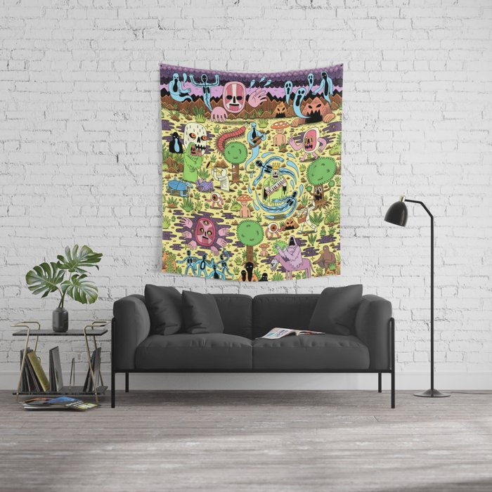 Ghost World Wall Tapestry