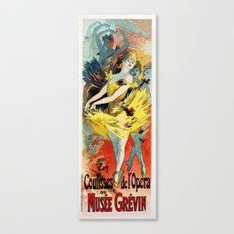 vintage French art nouveau ballet vertical banner Canvas Print