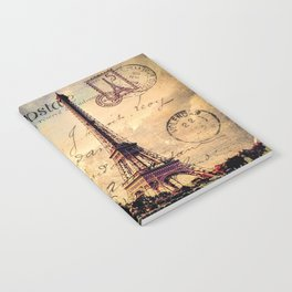 Vintage Paris-Carte Postale Notebook