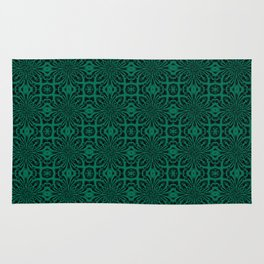 Lush Meadow Geometric Floral Abstract Rug
