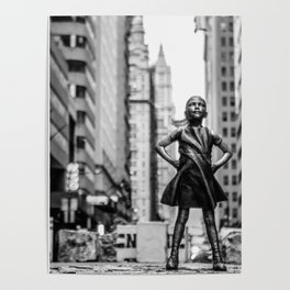 Fearless Girl New York City Poster