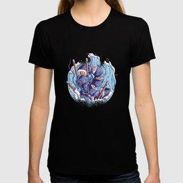 Blue Sushi Dragon in the Great Wave off Kanagawa T-shirt