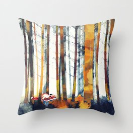 Autumn Hunt Throw Pillow