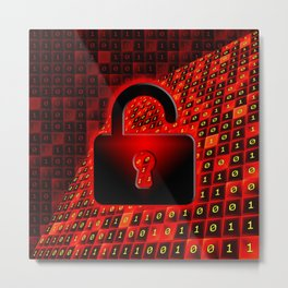 Unprotected data Metal Print