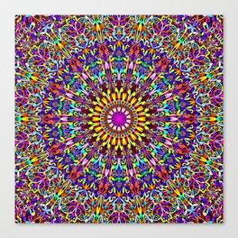 Vivid Life Mandala Canvas Print