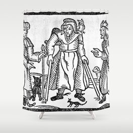 The Devil in Britain and America Shower Curtain