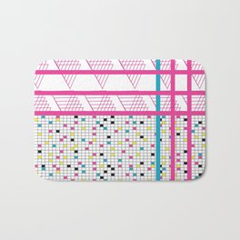 Retro 90s 80s Abstact Memphis Pattern Bath Mat