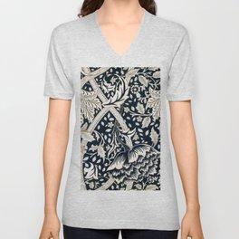 William Morris - Flower Pattern - Artwork Reproduction for Wall Art, Prints, Tshirts, Posters, Men, Women Unisex V-Neck