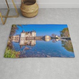 Famous medieval castle Sully sur Loire, Loire valley, France. Rug