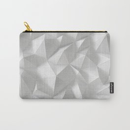 White polygonal landscape Carry-All Pouch