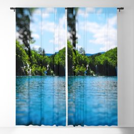 milanovacki slap at plitvice lakes national park croatia toy Blackout Curtain