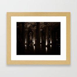 "Basilica Cistern (""Sunken Palace"", Istanbul, TURKEY) Framed Art Print"