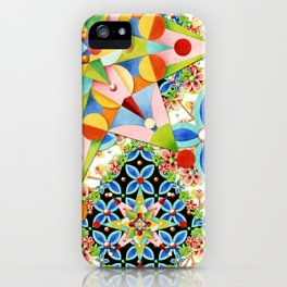 Elizabethan Blossom Starburst iPhone Case