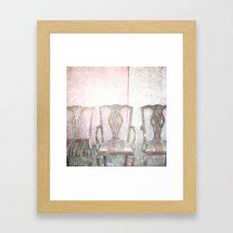 Antique Chairs Framed Art Print