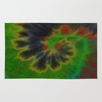 tie dye Area & Throw Rugs featuring tie dye by Mylittleradical