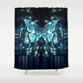 ButterFly Glitch Shower Curtain