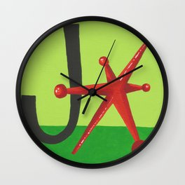 J is for Jack Wall Clock