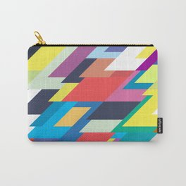Layers Triangle Geometric Pattern Carry-All Pouch
