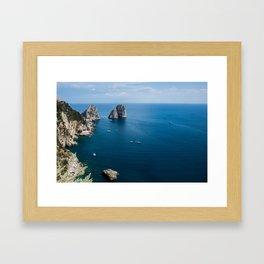 Italian landscapes - Capri Framed Art Print