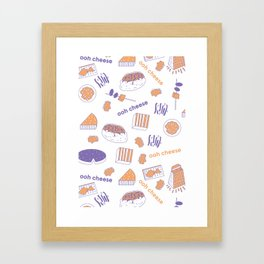 Ooh Cheese Framed Art Print