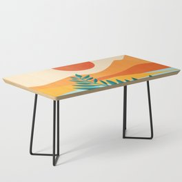 Mountain Sunset / Abstract Landscape Illustration Coffee Table