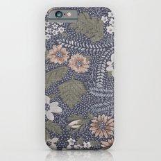 Seafoam Floral Pattern iPhone 6s Slim Case