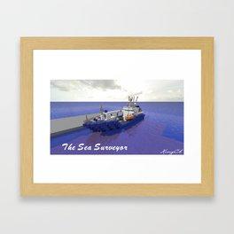 Minecraft - Operation Infinite Ocean - Sea Surveyor  Framed Art Print