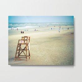 Lifeguard Chair on the Beach Metal Print