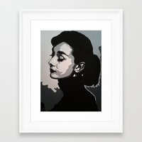 audrey Framed Art Prints featuring Audrey by AUSKMe2Paint