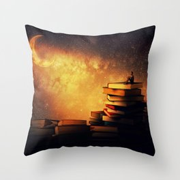 midnight tale Throw Pillow
