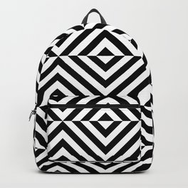 Black And White Geometric Square Seamless Pattern Backpack