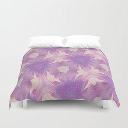 Geometric Floral Design - Purple Duvet Cover