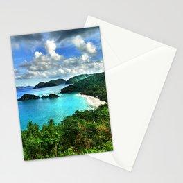 Caribbean Beach Trunk Bay, St. John Stationery Cards