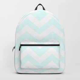 Bubbles - heavenly color - Zigzag Chevron Pattern Backpack