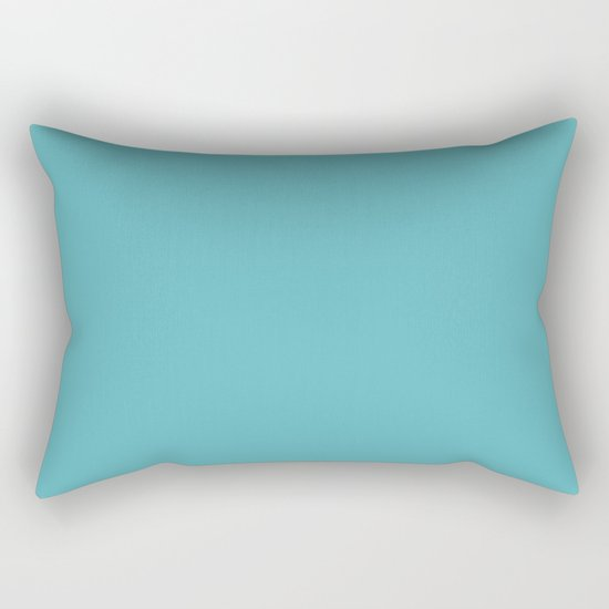 Simply Aqua- Mix and Match- A darker day at the Beach Rectangular Pillow