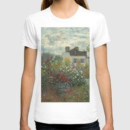 Claude Monet  A Corner of the Garden with Dahlias T-shirt
