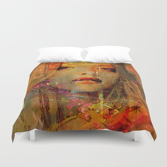 Look for a taxi Duvet Cover