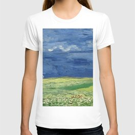 Vincent van Gogh - Wheatfield Under Thunderclouds T-shirt