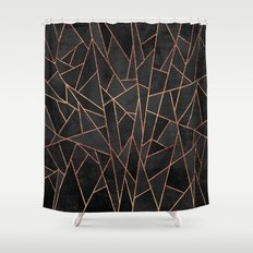 Shattered Black / 2 Shower Curtain